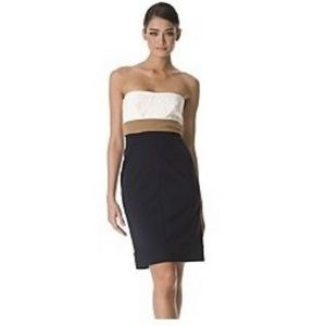 DVF Colorblock Strapless dress Size 8